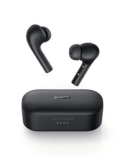 AUKEY Bluetooth Kopfhörer, In Ear Kopfhörer Kabellos mit Intensivem Bass, USB-C Quick Charge, 30 Std. Laufzeit, Integriertem Mikrofon, IPX6 Wasserdicht, Bluetooth 5