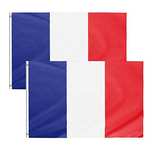 Star Cluster 2 Stück 70 x 100 cm Frankreich Flagge/Frankreich Fahne/Drapeau français/France National Flag (FR 70 x 100 cm)