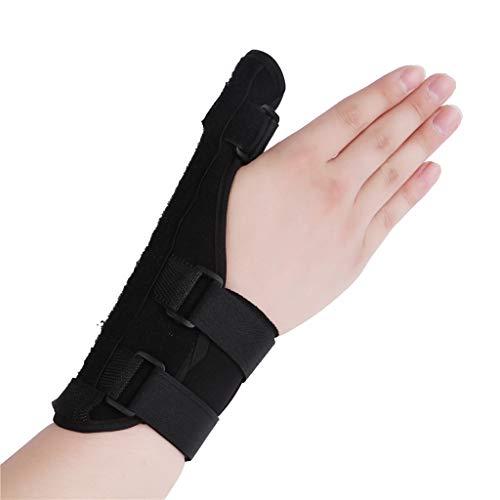 Fingerschiene für Arthritis, verstellbarer Befestigungsgurt mit eingebautem Aluminium Geeignet für Arthritis Sehnenentzündung Karpaltunnel Schmerzlinderung,Black,M