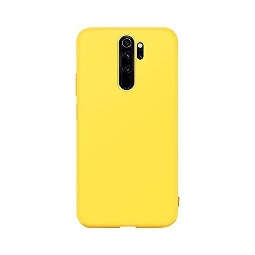 cuzz Funda para Xiaomi Redmi Note 8 Pro+{Protector de Pantalla de Vidrio Templado} Carcasa Silicona Suave Gel Rasguño y Resistente Teléfono Móvil Cover-Amarillo