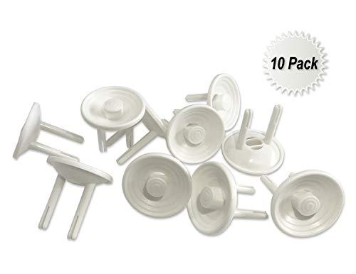Naomo Stopcontact Dop, Stopcontact Sloten, Insteekbaar Beveiligingen voor Kinder Veiligheid (10 Pack, Wit)