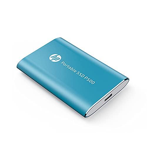 SSD HP P500 AZUL, 120GB, EXTERNO USB-C 3.1, LEITURAS: 350Mb/s e Gravações: 210Mb/s - 7PD47AA#ABC