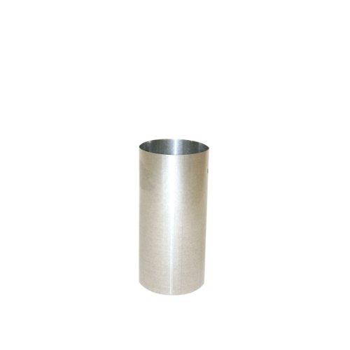 Kamino Flam Ofenrohr silber, feueraluminiertes Rauchrohr aus Stahl für sichere Ableitung von Verbrennungsgasen, rostfreies Kaminrohr, geprüft nach Norm EN 1856-2, Maße: L 250 x Ø 150 mm