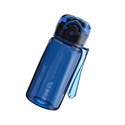 Bouteille d'eau réutilisable 14 oz en Plastique étanche Large Bouche Grande Bouteille de Boisson, avec poignée Sangle Porte-Eau Jug (Color : Blue, Taille : 400ml)