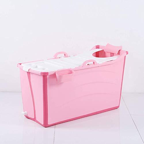 yunyu Bañera Plegable portátil para niños, bañera de hidromasaje, Cubo de baño para Piscina para niños, Tiempo de Aislamiento prolongado con Cubierta, 50 * 91 * 44 cm