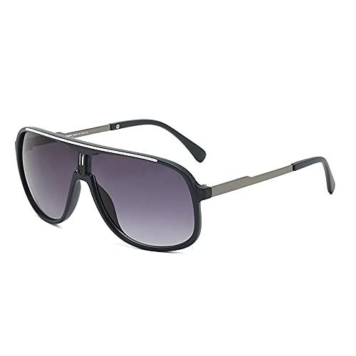 Miffen Gafas De Sol para Hombre Y Mujer Moda Polarizadas Gafas ProteccióN para ConduccióN Gafas De Deportes Al Aire Libre De Pesca De Moda Regalo de San Valentín (Color : Bright Black)