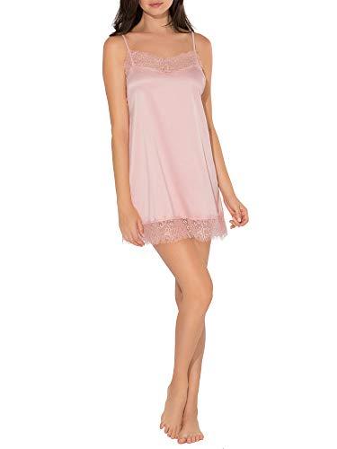 Smart & Sexy Women's Satin & Lace Slip Dress, Blushing Rose, M