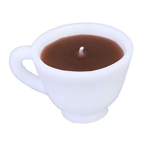 HQWE-ERLzhu 1 Pcs Coffee Cup Shape Scented Candle Wedding Birthday Gift Valentine's Day Christmas Decorative Aromatherapy Candle