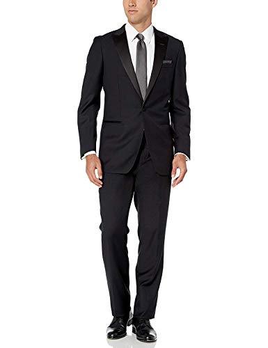 STACY ADAMS Men's 2 Pc. Slim Fit Suit, Navy, 42R