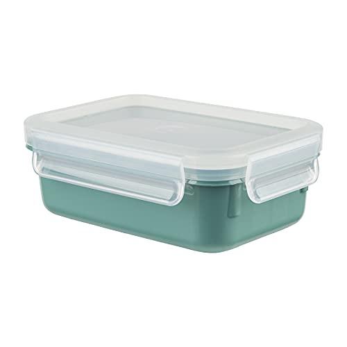 Emsa N10124 Clip & Close Color Edition Frischhaltedose | 0,55 Liter | 100% auslaufsicher/hygienisch | BPA-frei | spülmaschinen-, mikrowellen- und gefriergeeignet | made in Germany | Puder Grün