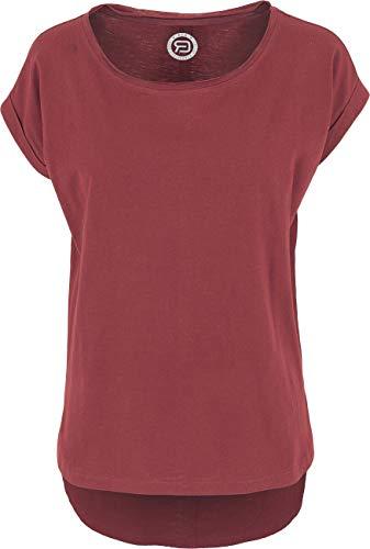 RED by EMP Long Back Shaped Slub Tee Frauen T-Shirt Burgund XXL