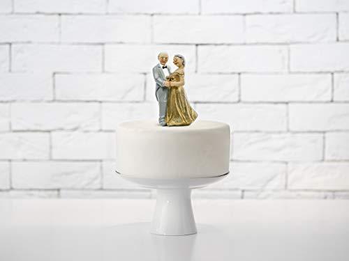 PartyDeco STATUINA Topper SPOSI 50 Anni Matrimonio Nozze Decorazione Torta Cake Anniversario, Multicolore, 12 cm