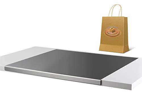 Moretti Tagliere In Acciaio Inox   Spianatoia Antiaderente   Piano Di Lavoro Per Cucina   Ottimo Per Impastare Pizza Pane Dolci   Tappetino Antiscivolo (Largh. 50cm X Prof. 48cm Piega 2cm)