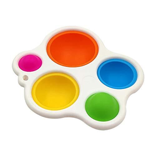 2pcs Baby Simple Sensory Toys, tablero de volteo silicona para el juguete educativo temprano para niños pequeños, juguete de la dentición para bebés durante 6 meses y más