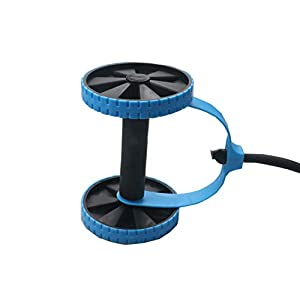 Darhoo New Sport Core Double AB Roller Wheel Fitness Abdominal Exercises Equipment Waist Slimming Trainer at Home Gym (Blue)