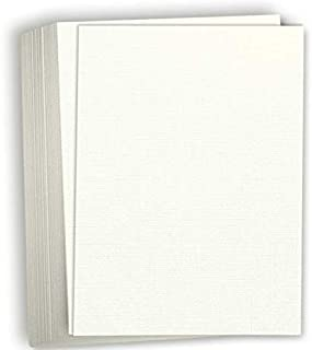 """Hamilco White Resume Linen Textured Cardstock Paper – 8 1/2 x 11"""" Blank Thick Heavy Weight 80 lb Cover Card Stock for Prin..."""