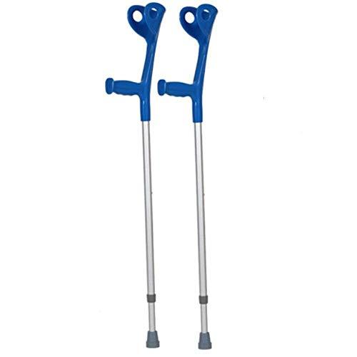FGVDJ Muletas de Agarre Suave Regulables en Altura con Mango Azul de Forma anatómica para distribuir la presión Soporte de Peso Parcial Azul Ajustado ⭐