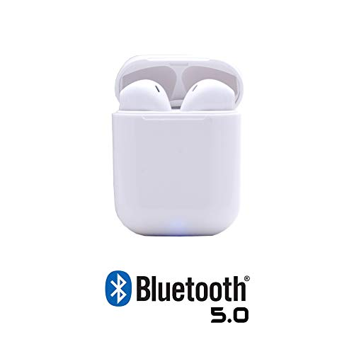 TWS KINGESHOP i12 Auricolari Bluetooth True Wireless Cuffie Senza Fili con Microfono per Samsung iPhone iPad Huawei Xiaomi Sony Airpods in-Ear