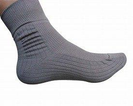 転倒予防靴下 24−25cm グレー (コーポレーションパールスター)