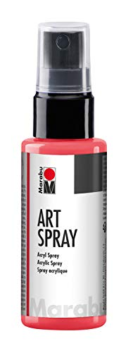 Marabu Art Spray, Acrylic Spray 50 ml, 1209 05, Color 123 Peperoni/Chilli