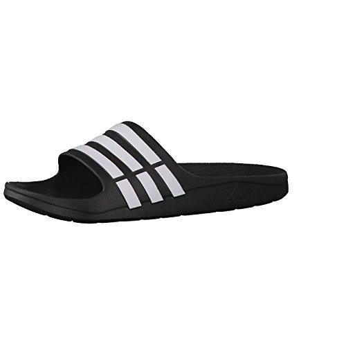 adidas Performance Duramo Slide Unisex-Erwachsene Dusch- & Badeschuhe, Schwarz (Black/White), 37