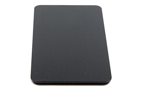 Business Card Size Anodized Aluminum Metal Blanks 2 x 3.55 x 0.04 1mm Thick (Pack of 10) (Black)