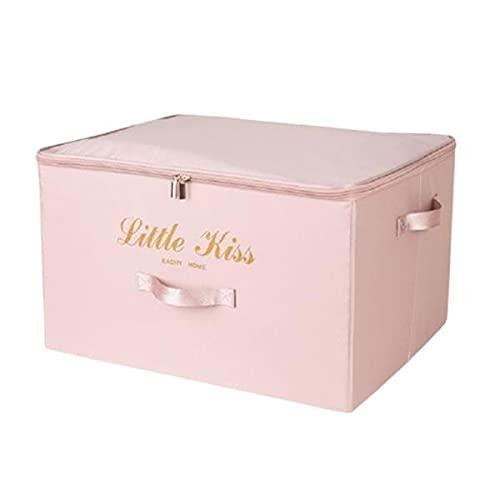 SHOWWE 2 juegos de ropa caja de almacenamiento hogar gran armario plegable caja de almacenamiento para organizar ropa paño para almacenamiento 35 x 28 x 18 cm (rosa S)