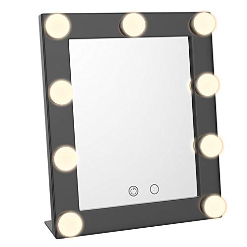 RXM LED lamp make-up spiegel dimbare Dual Touch Control HD koud/warm twee kleuren -11,4 x 9,8 in