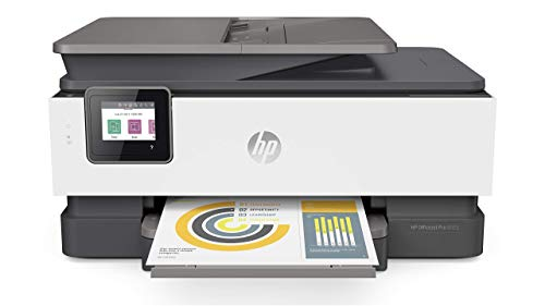HP OfficeJet Pro 8025 All-in-One Wireless Printer, with Smart Tasks for Home Office Productivity & Never Run Out of Ink with HP Instant Ink (1KR57A) (Renewed)
