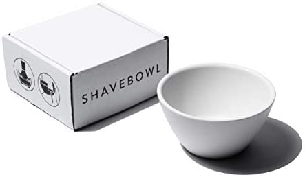 Shaving Bowl Shaving Cup by SHAVEBOWL Made in USA Stone White product image