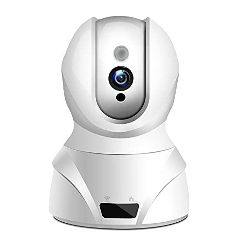 WLAN IP Kamera,HD WiFi überwachungskamera,mit 350°/100°Schwenkbar,Home und Baby Monitor mit Bewegungserkennung, Zwei-Wege-Audio, Nachtsicht, unterstützt Fernalarm und Mobile App Kontrolle (Weiß)