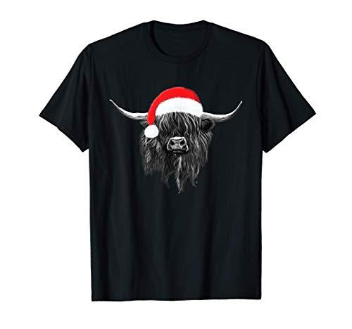 Schottisch Hochlandkuh Weihnachten Hut T-Shirt