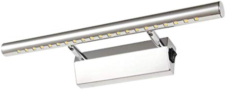 Scofeifei Spiegel-Licht, LED-Spiegel-Scheinwerfer, Metall Acryl Wandleuchten IP44 Ankleidezimmer Spiegelschrank Licht (Farbe  Warmes Licht-9W-70cm) (Farbe   Weiß Light-9w-70cm)
