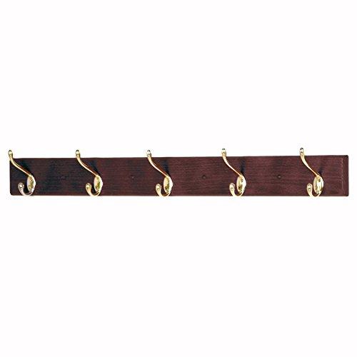 Wooden Mallet 12-Inch 2-Peg Coat Rack Mahogany