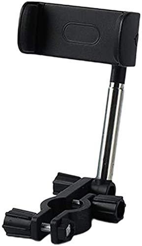 hwljxn Tenedor de teléfono móvil Coche, 360 Grados Teléfono Giratorio Coche Retrovisor Soporte de teléfono con Soporte de teléfono Montaje Universal para teléfono móvil (Color : Black)