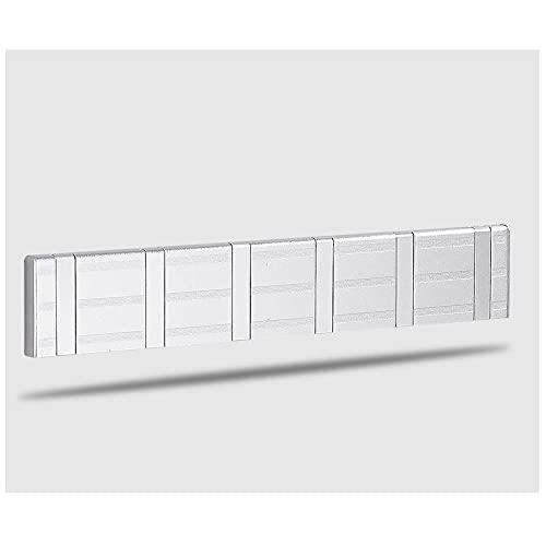 Espacio Aluminio Plata Blanco Oro Hidden Moda Multifuncional Abrigo Montado en pared Gancho de gancho de montaje-C12 Gancho para toallas de pared fácil de instalar