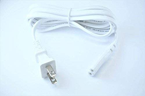 [UL Listed] OMNIHIL White 5 Feet Long AC Power Cord Compatible with Canon PIXMA TS8320 Printer