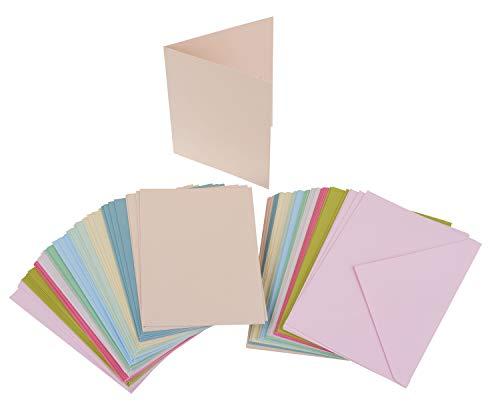 100tlg. Kartenset je 50 Karten & Umschläge farbig A6 & C6 VBS Großhandelspackung
