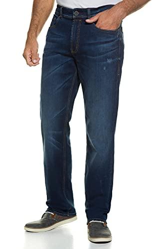 JP 1880 Herren große Größen L-8XL bis 70, Jeans, 5-Pocket FLEXNAMIC®, super-elastischer Denim, Gerade geschnittenes Bein, schmalere Fußweite, darkblue 64 722849 93-64