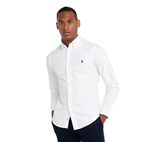 Ralph Lauren Camisa Oxford Slim Fit (L, Pure White)