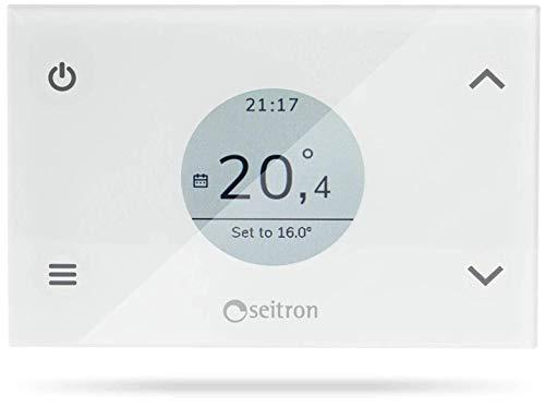 SEITRON GIW02MR Cronotermostato Wi-Fi settimanale di Colore Bianco da Incasso a 230V, programmabile mediante App iOS/Android