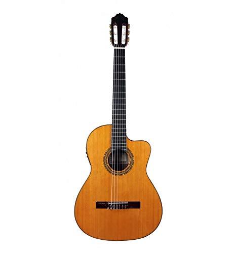 Esteve 15424CE-48 - Guitarra electroclásica 4/4 mesa cedro macizo, natural brillante