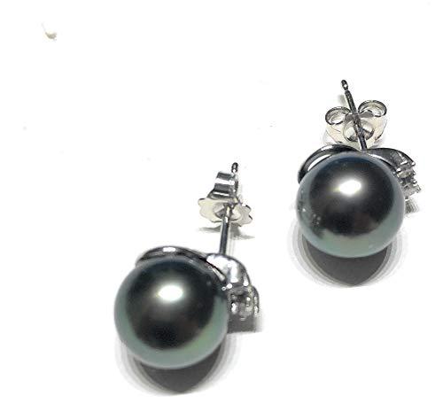 orecchini donna gioielli Comete ORP479 diamanti 0,12 taglio brillante SI G perle tahitiane 9,5/10