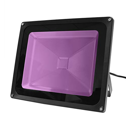 50W UV LED Schwarzlicht, IP65 wasserdicht, für Schwarzlicht Partyzubehör, Neon Glow, Glow in The Dark, Angeln, Aquarium, DJ Disco, Nachtclubs, Aushärten