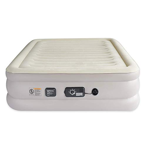 Aria Queen Inflatable Air Mattress with ConstantComfort Built-in Pump, Self-Inflating Air Bed Maintains Selected Firmness for Luxurious All-Night Sleep Comfort