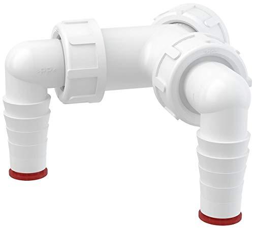 Dubbele 17-23mm Vaatwasser Elleboog Inlaten naar 1