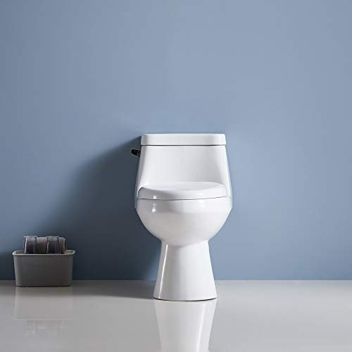 Artiron Single Flush Right Height One-Piece Elongated Toilet with Liner Pressure Assisted Two Piece Toilet with Bedpan Slots