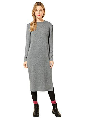 Street One Damen 142844 Kleid, Frost Grey Melange, 38