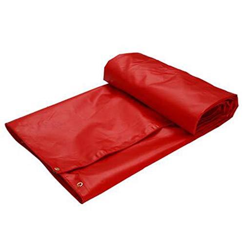 Bâche Épaisse Imperméable Imperméable De Parasol De PVC De Protection Solaire De De Protection Solaire Rouge 650 / ㎡ (Taille : 4X3M)