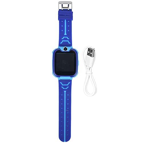 Reloj de Pantalla táctil, Reloj de teléfono multifunción para niños para niños, Juguetes para niños, Regalo para Reducir el estrés por presión(Blue)